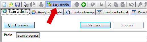 easy sitemap generator mode