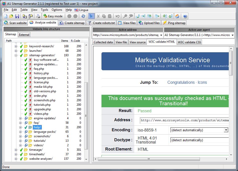 Sitemap Data W3c Html Validate