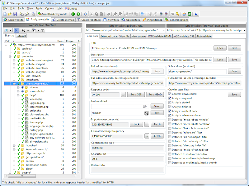 A1 Sitemap Generator 7.7.0