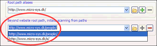 start search paths