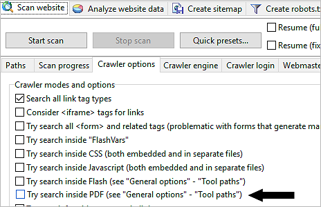 crawl PDF files
