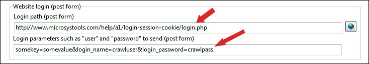 copy and paste login data