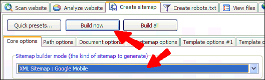 create mobile sitemaps with xml sitemap generator