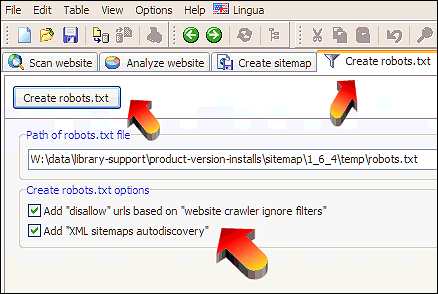 robots file for disallow urls and xml sitemaps autodiscovery