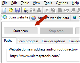 scan website to create RSS sitemap