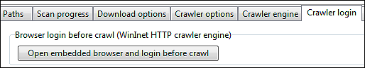 login using the embedded browser