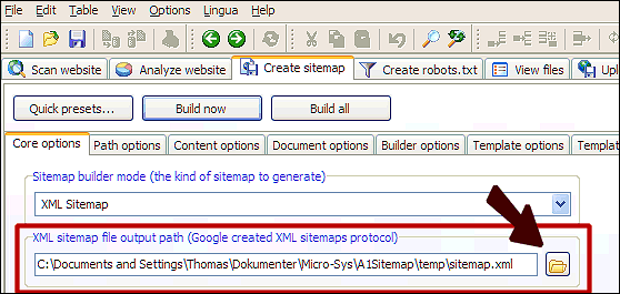 Change Sitemaps Output And Storage Path In Sitemap Builder