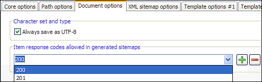 sitemap generator errors and server http response header codes