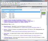 Screenshot: A1 Keyword Research 2.1.3 in Windows 7 - keyword research online tools