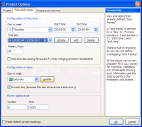 Screenshot: TimeSage Timesheets version 1.4.2 in Windows XP - project salary