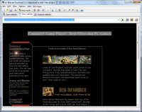Screenshot: A1 Website Download 2.1.1 in Windows 7 - offline site copy example #2